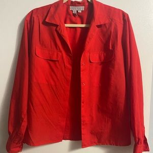 vintage red button-up